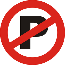 Traffic sign of India: Parking prohibited