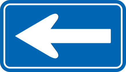 Traffic sign of Japan: Road with one-way traffic