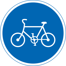 Traffic sign of Japan: Mandatory path for cyclists