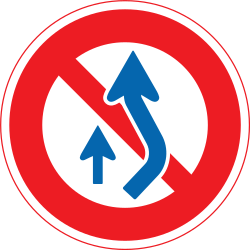 Traffic sign of Japan: Overtaking prohibited