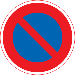 Traffic sign of Japan: Parking prohibited