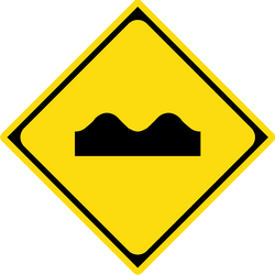 Traffic sign of Japan: Warning for a bad road surface