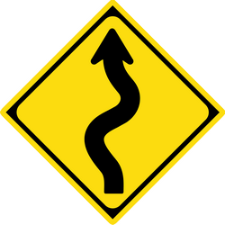 Traffic sign of Japan: Warning for curves