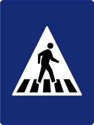 Traffic sign of Malaysia: Crossing for pedestrians