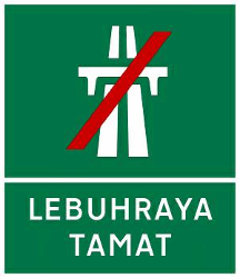 Traffic sign of Malaysia: End of the motorway
