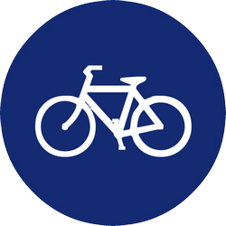 Traffic sign of Malaysia: Mandatory path for cyclists