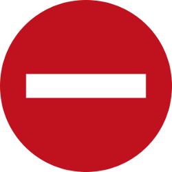 Traffic sign of Malaysia: Entry prohibited (road with one-way traffic)