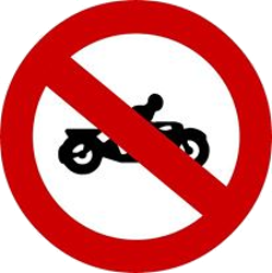Traffic sign of Malaysia: Motorcycles prohibited