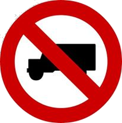 Traffic sign of Malaysia: Trucks prohibited