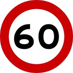 Traffic sign of Malaysia: Driving faster than indicated prohibited (speed limit)