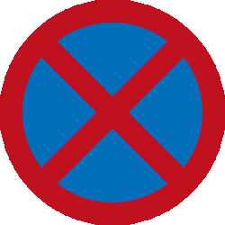 Traffic sign of Malaysia: Parking and stopping prohibited