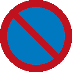Traffic sign of Malaysia: Parking prohibited