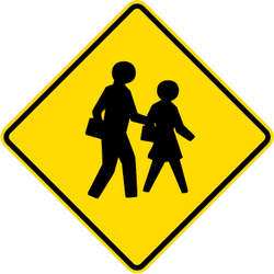 Traffic sign of Malaysia: Warning for children