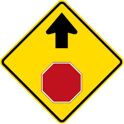 Traffic sign of Malaysia: Stop and give way ahead