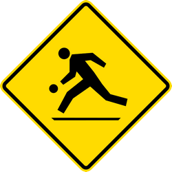 Traffic sign of Malaysia: Warning for a playground