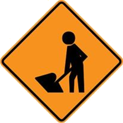 Traffic sign of Malaysia: Warning for roadworks