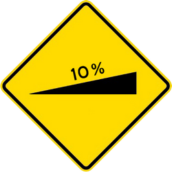 Traffic sign of Malaysia: Warning for a steep ascent
