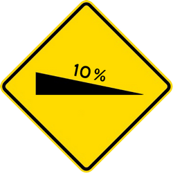 Traffic sign of Malaysia: Warning for a steep descent