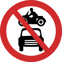 Traffic sign of Nepal: Motorcycles and cars prohibited