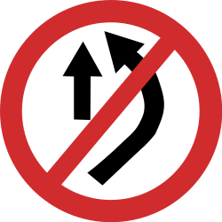 Traffic sign of Nepal: Overtaking prohibited