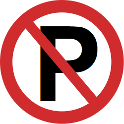 Traffic sign of Nepal: Parking prohibited
