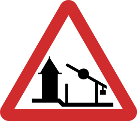 Traffic sign of Nepal: Warning for a checkpoint