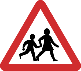 Traffic sign of Nepal: Warning for <a href='/en/nepal/overview/child'>children</a>
