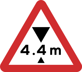 Traffic sign of Nepal: Warning for a limited height