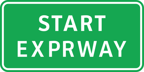 Traffic sign of Philippines: Begin of an expressway