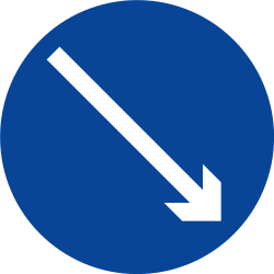 Traffic sign of Philippines: Passing right mandatory