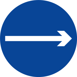 Traffic sign of Philippines: Mandatory right