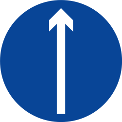 Traffic sign of Philippines: Driving straight ahead mandatory
