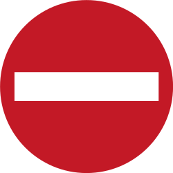 Traffic sign of Philippines: Entry prohibited (road with one-way traffic)