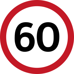 Traffic sign of Philippines: Begin of a speed limit