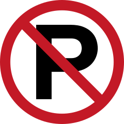 Traffic sign of Philippines: Parking prohibited