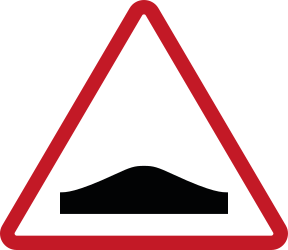 Traffic sign of Philippines: Warning for a speed bump
