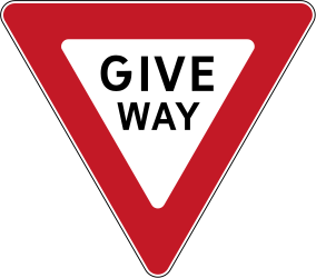 Traffic sign of Philippines: Give way to all drivers