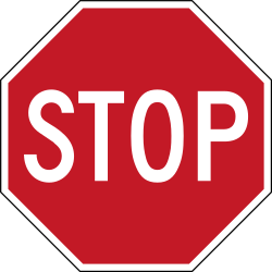 Traffic sign of Philippines: Stop and give way to all drivers