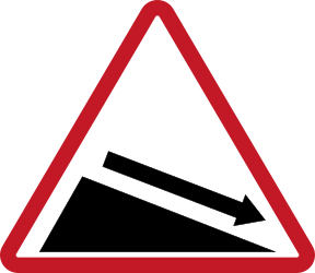 Traffic sign of Philippines: Warning for a steep descent
