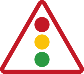 Traffic sign of Philippines: Warning for a traffic light