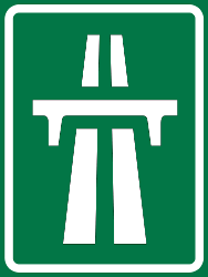 Traffic sign of Thailand: Begin of a motorway