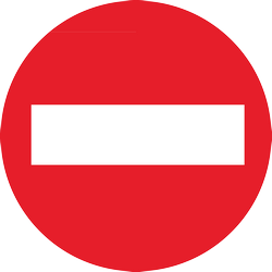 Traffic sign of Thailand: Entry prohibited (road with one-way traffic)