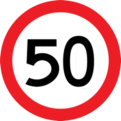 Traffic sign of Thailand: Driving faster than indicated prohibited (speed limit)