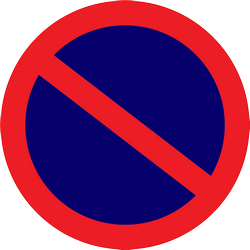 Traffic sign of Thailand: Parking prohibited