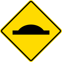 Traffic sign of Thailand: Warning for a speed bump