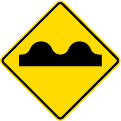 Traffic sign of Thailand: Warning for a bad road surface