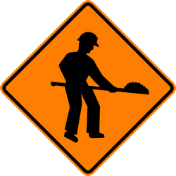 Traffic sign of Thailand: Warning for roadworks