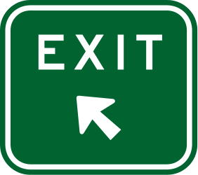 Traffic sign of Australia: Information about the next exit