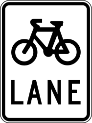 Traffic sign of Australia: Lane for cyclists