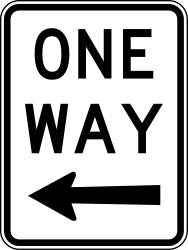 Traffic sign of Australia: Road with one-way traffic